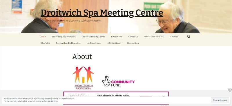 Droitwich Spa Meeting Centre - helping people live well with dementia