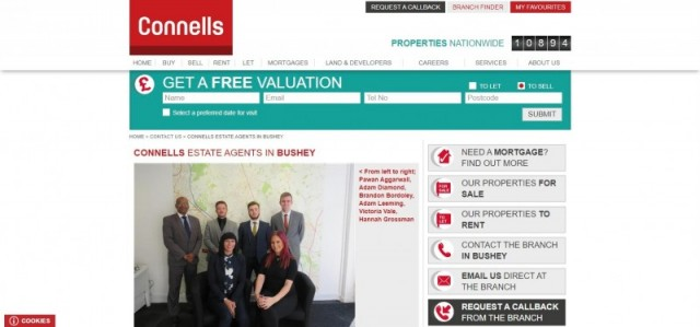 Connells Estate Agents in Bushey