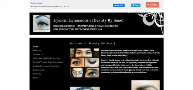 Eyelash Extensions at Beauty By Soodi